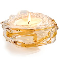 Glisten+Glass Candle - Bird's Nest - White Tea + Ginger