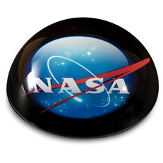 Crystal Dome  Paperweight - NASA
