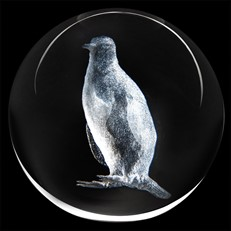 Crystal Paperweight - Penguin