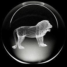 Crystal Paperweight - Lion