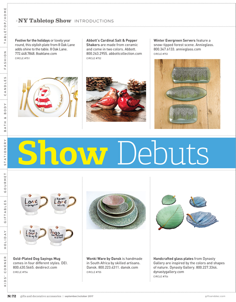Gifts and Decorative Accessories - September/October 2017